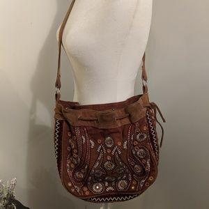 Free People Bags - Free People Boho Drawstring brown Shoulder bag